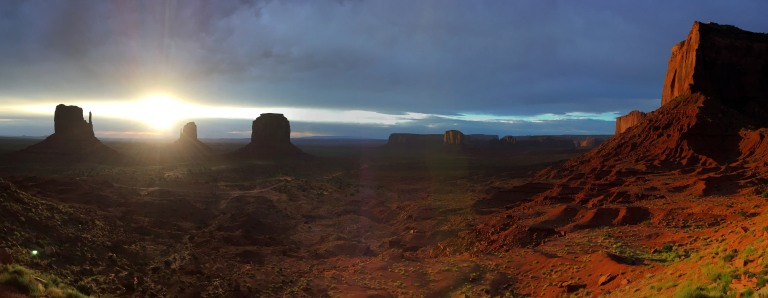 ouest usa monument valley sunrise